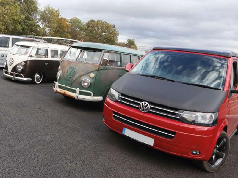 row of volkswagon vans